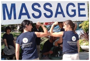 On-site chair massage is perfect for Employee Appreciation and Wellness Programs
